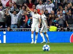 Benzema celebra su gol contra el Plzen. (Foto: Getty)