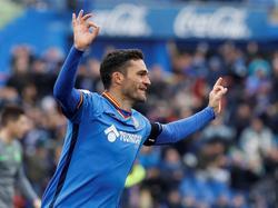 Molina celebrando su gol número 34 con el Getafe. (Foto: Imago)