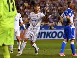 Toni Kroos marcó el tercer gol del Madrid en Riazor. (Foto: Getty)