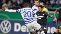 Hoffenheim setzt sich gegen Duisburg durch