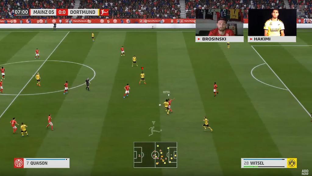 BVB-Star Hakimi musste gegen Brosinski von Mainz 05 ran