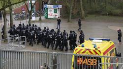 In Bremen hatte die Polizei alle Hände voll zu tun