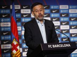El presidente del Barça, Josep María Bartomeu.