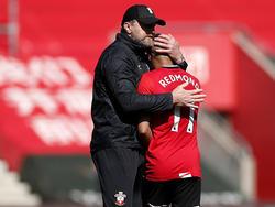 Ralph Hasenhüttl feiert mit seinem Team einen wichtigen Sieg