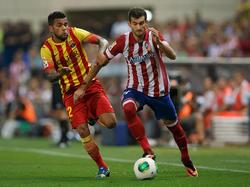 Leo Baptistão (r.) wird Atlético Madrid rund zwei Wochen fehlen
