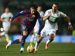 Neymar en su etapa como jugador del FC Barcelona.
