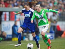 Bayern München verpflichtete die Schottin Lisa Catherine Evans (l.)