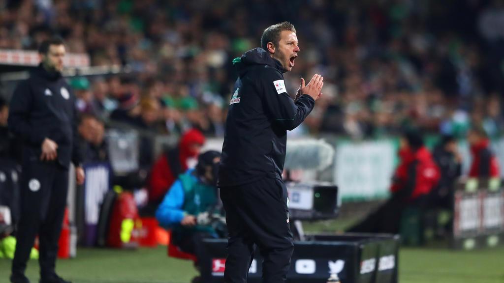 Werder-Coach Florian Kohfeldt mit gemischten Gefühlen