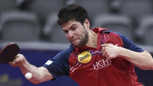 Dimitrij Ovtcharov ärgert sich nach seiner Niederlage