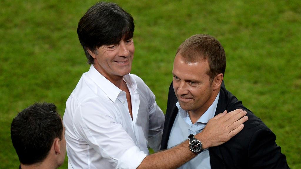 Führten die DFB-Elf 2014 gemeinsam zum WM-Titel: Bundestrainer Löw und sein damaliger Assistenst Flick