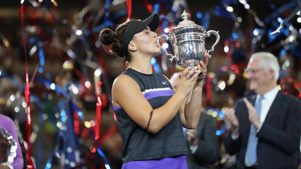 Bianca Andreescu triumphierte als erste Kanadierin im Einzel bei einem Major