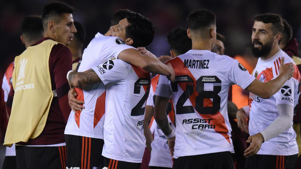 River Plate feiert das 2:0 gegen Stadtrivale Boca Juniors