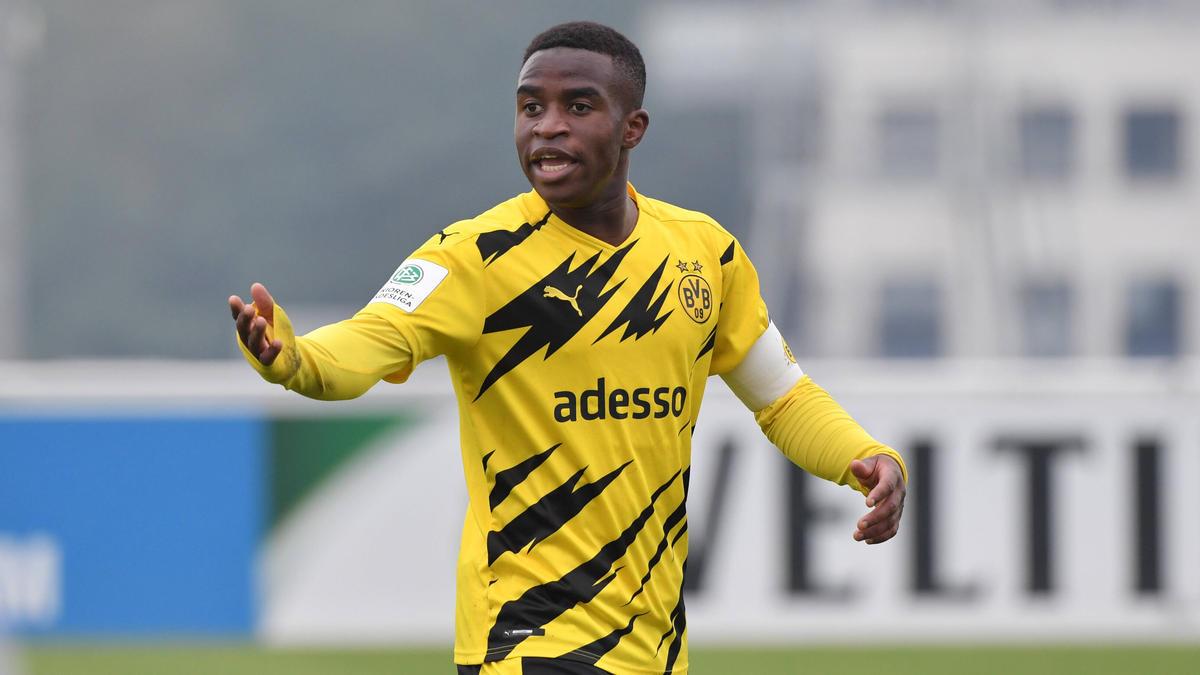 Youssoufa Moukoko traf jüngst erstmals für die deutsche U21-Auswahl