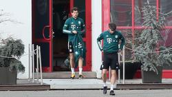 Befinden sich im Aufbautraining: Bayern-Profis Leon Goretzka und Javi Martínez