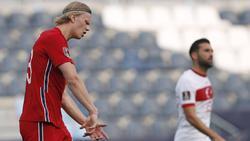 BVB-Star Erling Haaland steckte mit Norwegen eine deutliche Pleite ein
