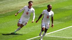 Raheem Sterling (r.) traf zum Goldenen Tor gegen Kroatien