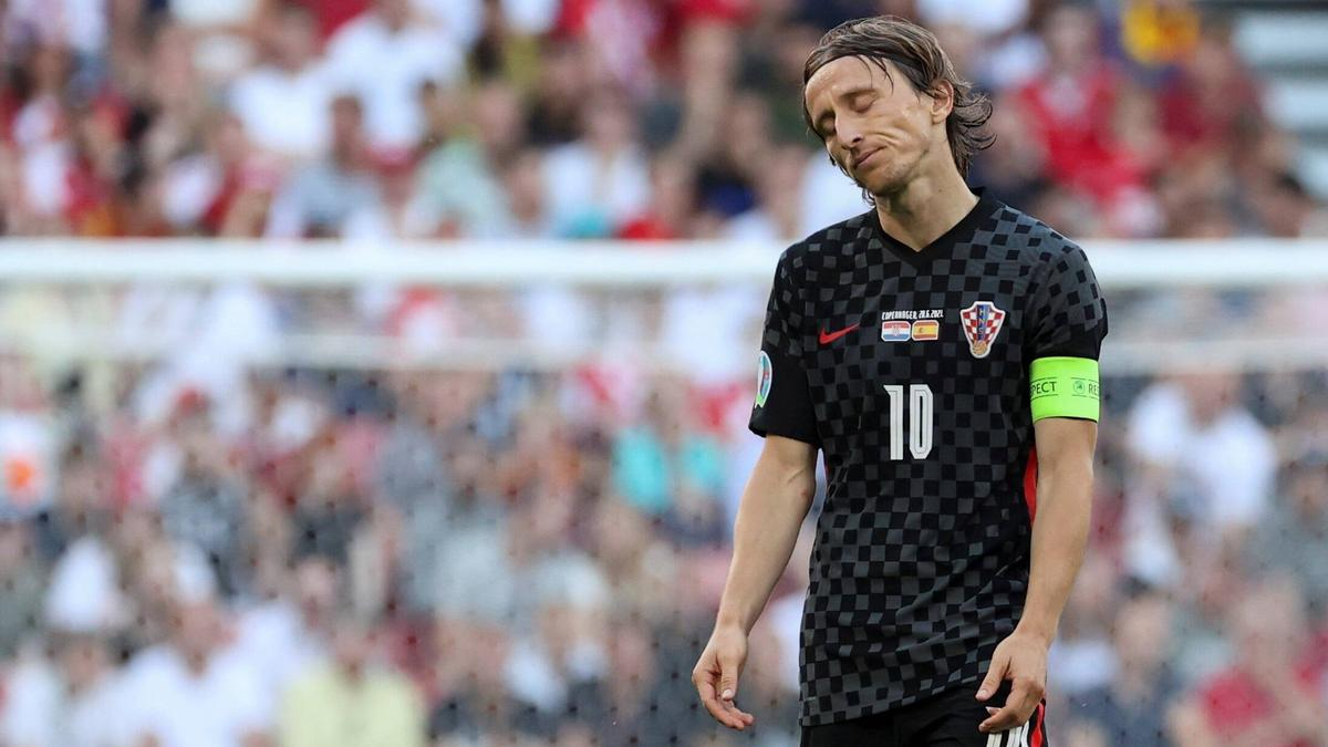 Luka Modric ist mit Kroatien ausgeschieden