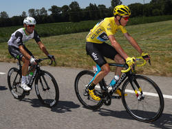 Chris Froome (re.) und Mark Cacendish