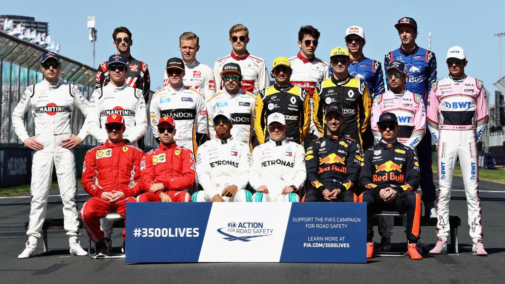 Die 20 Stammfahrer der Formel-1-Saison 2018