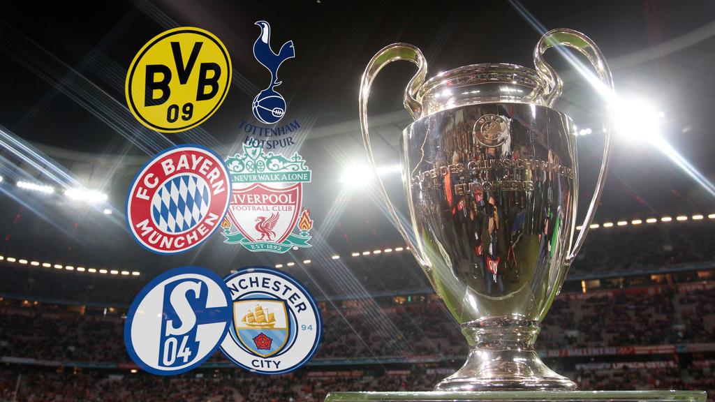 Die deutschen Klubs bekommen es in der Champions League mit drei englischen Klubs zu tun