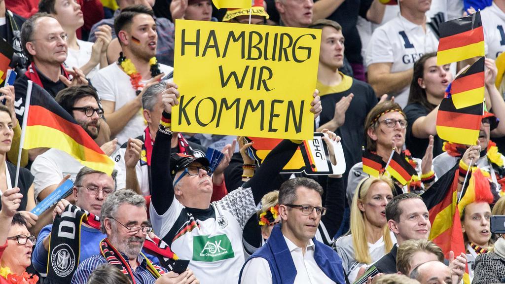 Die Deutschland-Fans sind in Stimmung