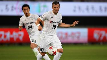 Lukas Podolski steckt mit seinem Verein im Tabellen-Mittelfeld fest