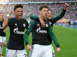 Leon Goretzka (m.) erzielte das 1:0 für Schalke
