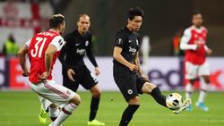 Eintracht Frankfurt musste sich dem FC Arsenal geschlagen geben