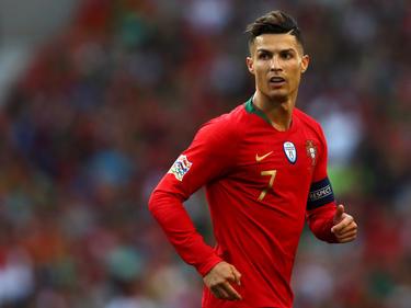 Cristiano Ronaldo con la camiseta de Portugal.