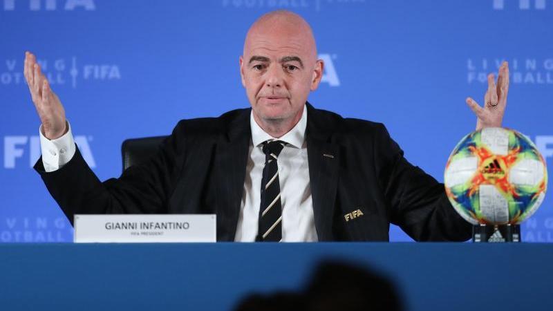 FIFA-Präsident Gianni Infantino beim Kongress des Weltverbandes in Shanghai