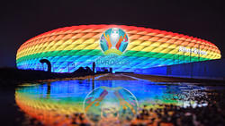 Das Münchner EM-Stadion darf am Mittwochabend nicht in den Regenbogen-Farben illuminiert werden