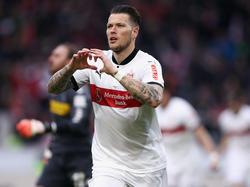Daniel Ginczek erzielte gegen Gladbach das Tor des Tages