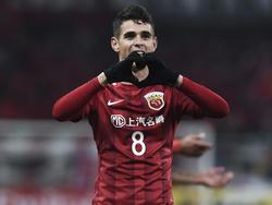 Oscar celebra un gol con el Shanghai SIPG. (Foto: Getty)