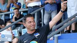 Hertha-Trainer Ante Covic feierte einen gelungenen Einstand