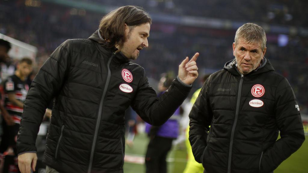 Nicht mehr vereint bei Fortuna Düsseldorf: Sportvorstand Lutz Pfannenstiel (l.) und Ex-Coach Friedhelm Funkel