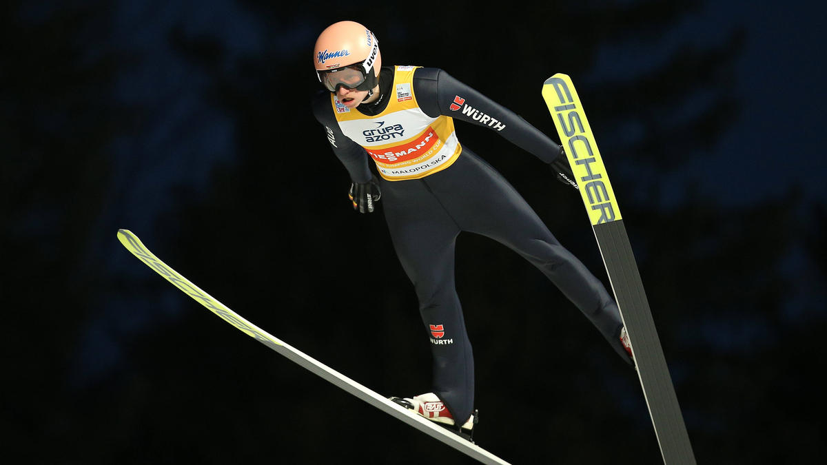 Karl Geiger wurde bei der Qualifikation dritter