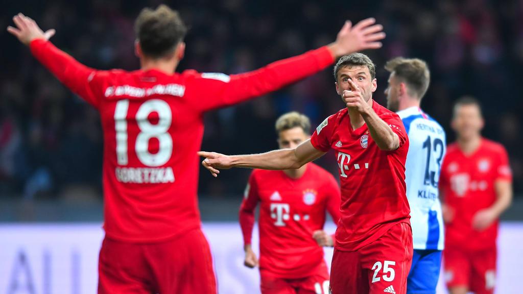 Thomas Müller trifft beim Sieg des FC Bayern bei Hertha BSC