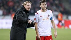 Kölns Verhandlungsführer Jonas Hector (r.) mit seinem Coach Markus Gisdol