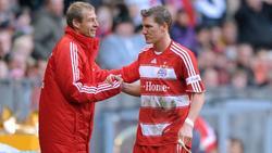 Klinsmann und Schweinsteiger arbeiteten zwischen 2008 und 2009 beim FC Bayern zusammen