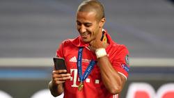 Thiago Alcántara holte mit dem FC Bayern 2020 das Sextuple