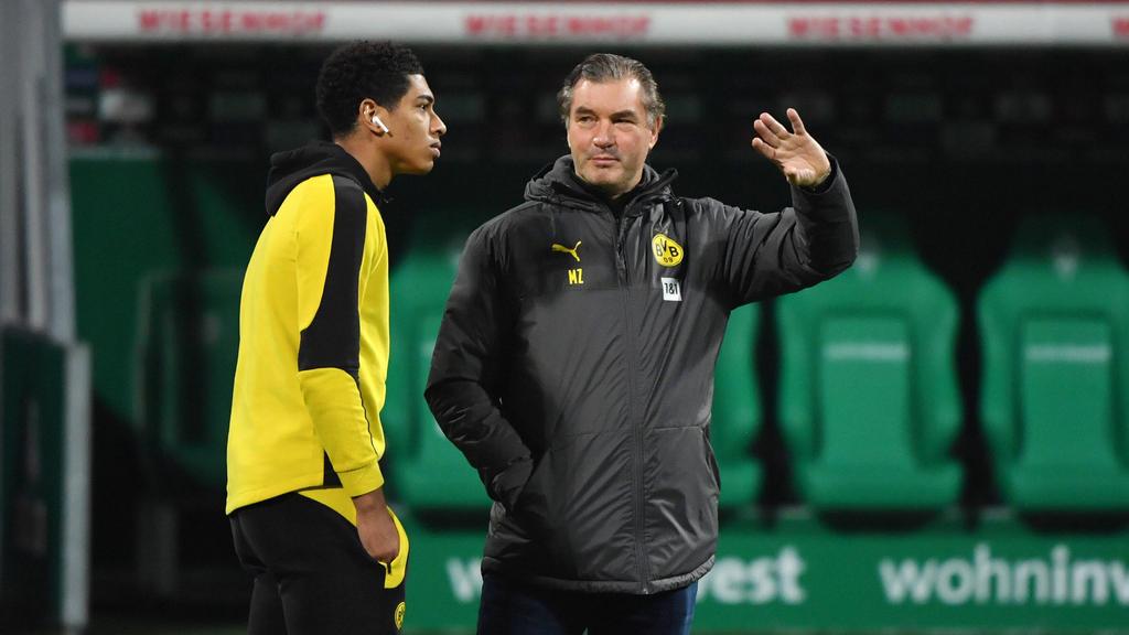 Jude Bellingham (l.) begeistert nicht nur BVB-Sportdirektor Michael Zorc