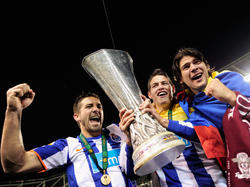 Jubelnde Euro-League-Sieger