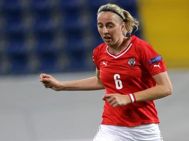 Katharina Schiechtl erzielte für Österreich das entscheidende 2:1 im Finale des Cyprus Cups