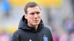 Nicht zufrieden mit dem Auftritt seines HSV: Hannes Wolf
