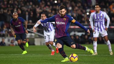 Messi anota su gol número 22 de este ejercicio. (Foto: Getty)