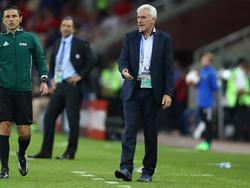 Der Trainer der Nationalmannschaft vonKamerun: Hugo Broos