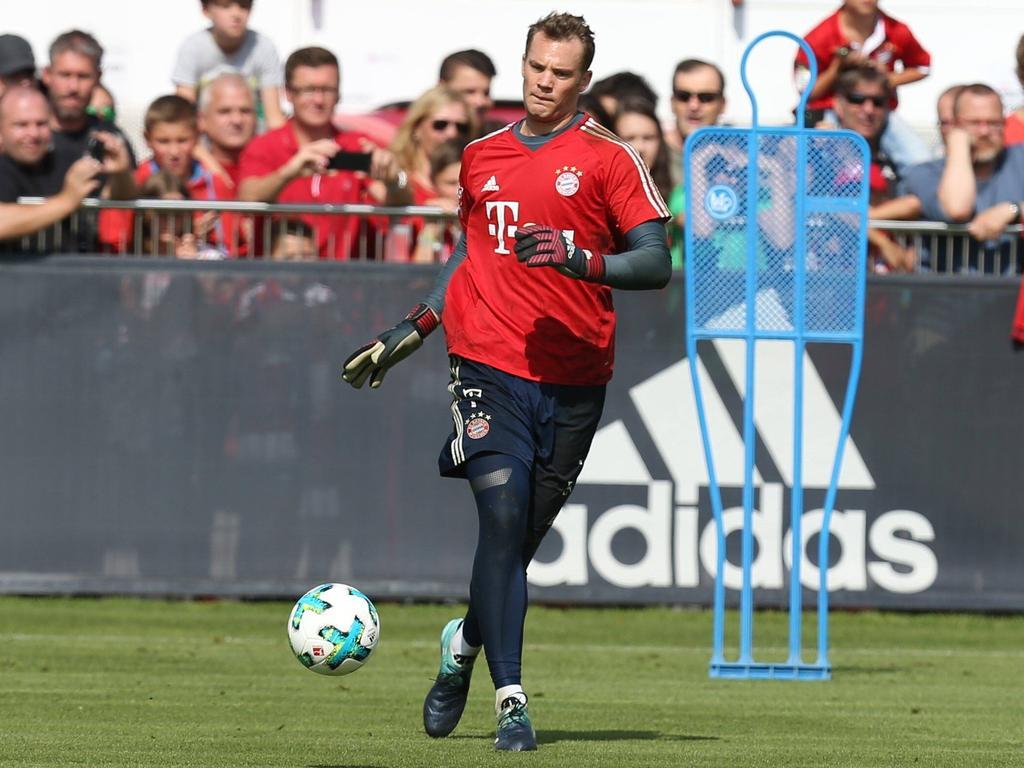Manuel Neuer konnte auch am Donnerstag noch nicht voll mittrainieren