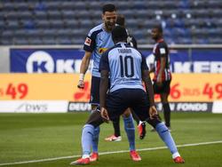 Marcus Thuram freute sich über den Auswärtssieg von Mönchengladbach in Frankfurt