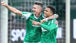 Spielte gegen den FC Augsburg groß auf: Felix Agu (r) von Werder Bremen