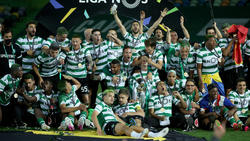 Sporting jubelt über den Gewinn der Meisterschaft